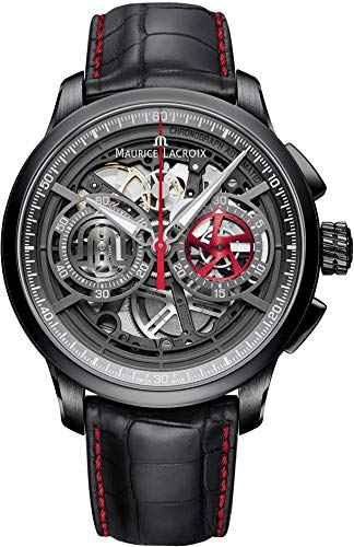 - Maurice Lacroix Masterpiece Skeleton Automatic Watch, Chronograph, ML 206, PVD