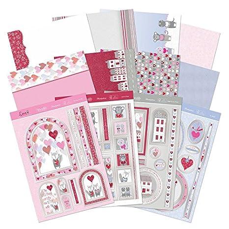 Hunkydory - kit de tarjeta amor es en el aire Tarjeta ...