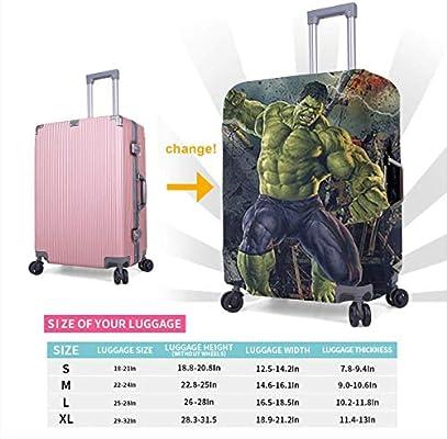 CFXDD Green Hulk - Funda Protectora para Maleta de Viaje (para ...