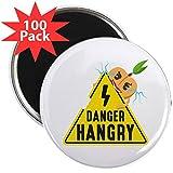 CafePress - Emoji Peach Hangry - 2.25'' Magnet (100 pack)