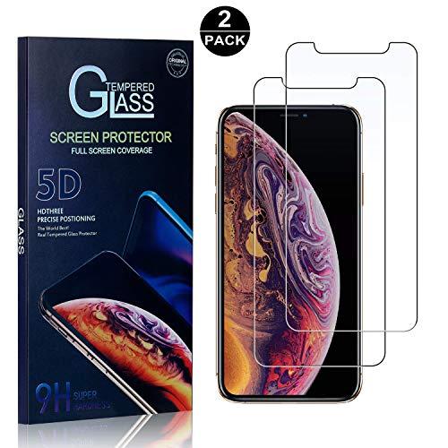 (iPhone X/iPhone Xs Screen Protector, Bear Village Tempered Glass Screen Protector, HD Screen Protector Glass for iPhone X/iPhone Xs - 2 Pack)