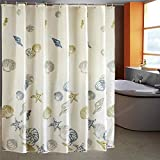LESOLEIL Shower Curtain Polyester Bathroom Waterproof decor 180x200cm with hooks Seashell