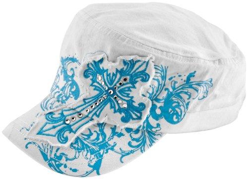 Cap Silk Baseball (ZANheadgear Highway Honey 100 Percentage Cotton Studded Ladies Cap)