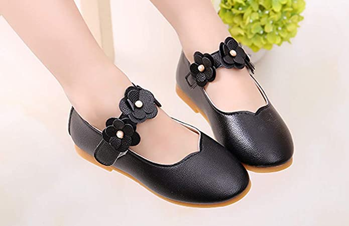 SUNNY Store Little Big Girl Glitter PU Leather Mary Jane Shoes