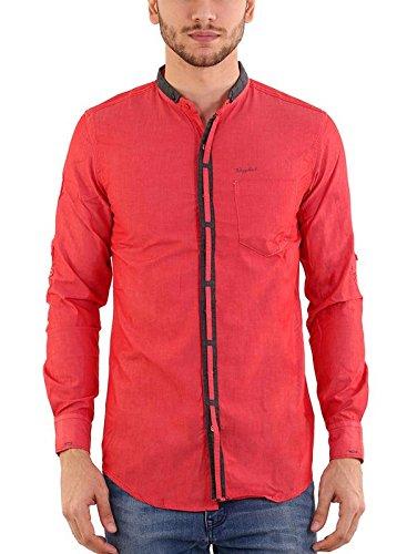 daf222ef528 Rapphael Men s Cotton Chinese Collar Shirts Full Sleeve (1A-Medium ...