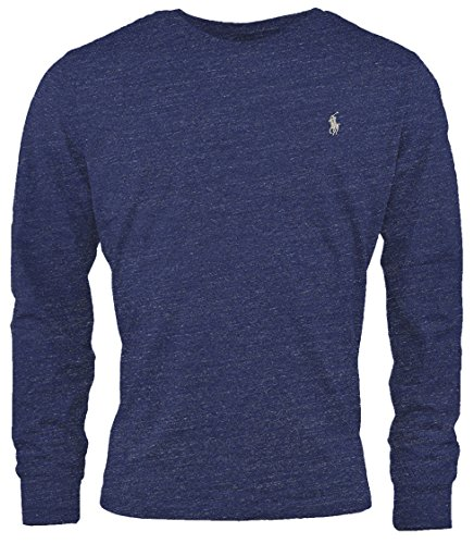 Polo Ralph Lauren Men's Long Sleeve Pony Logo T-Shirt - XX-Large - Space Navy - Blue Heather -