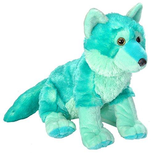 Wild Republic Cuddlekins Vibes Mint Green Wolf Plush