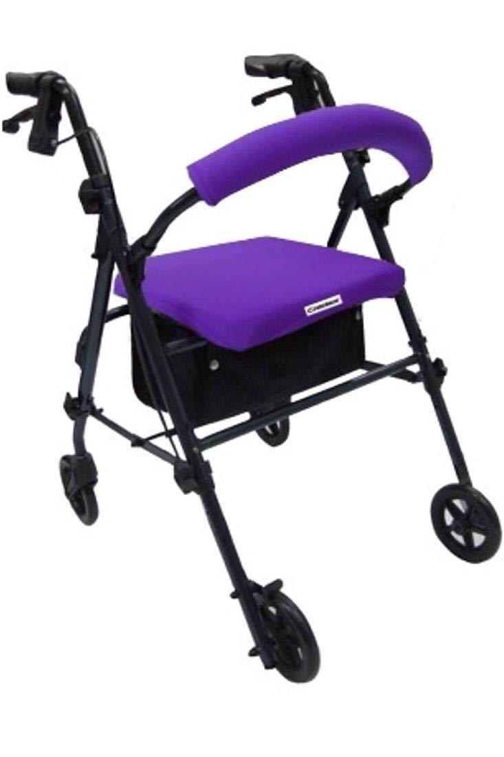Crutcheze Purple Rollator Walker Seat and Backrest Covers Designer Fashion Accessories Made in USA by Crutcheze