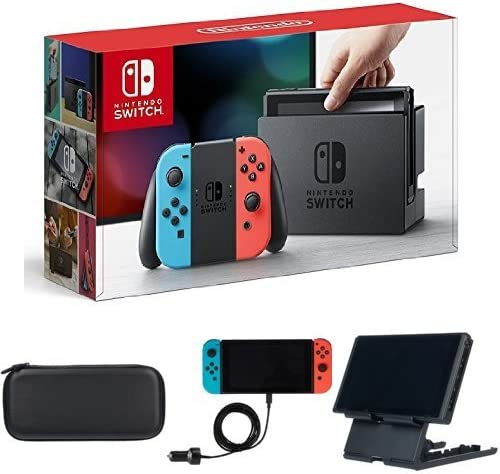 Nintendo Switch - Consola Azul Neón/Rojo Neón + Set de accesorios ...