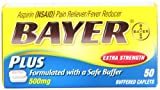 Bayer Extra Strength Plus Calcium Carbonate Buffer, 50-Count Caplets (Pack of 4)