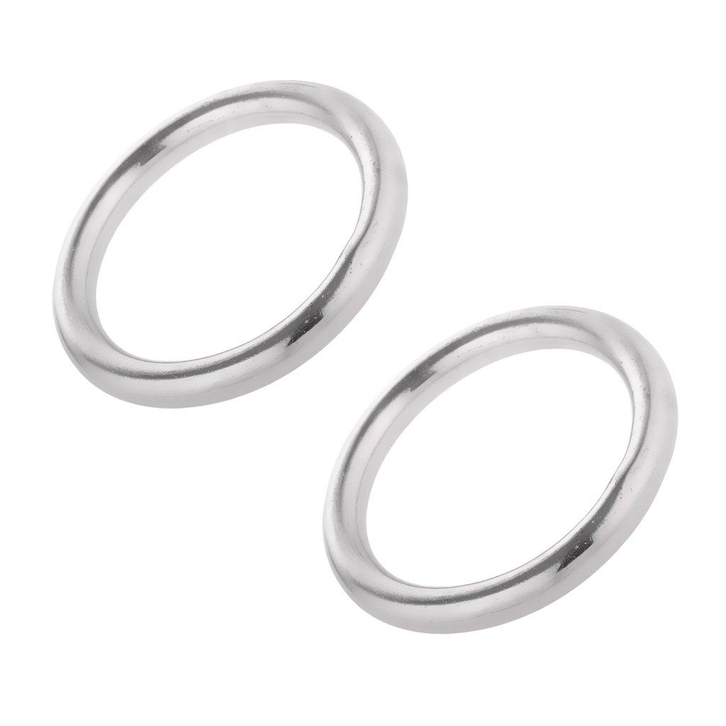 Sharplace Edelstahlringe Edelstahl O Ring Rundring (2 Stü ck Pack) - 6 x 25mm