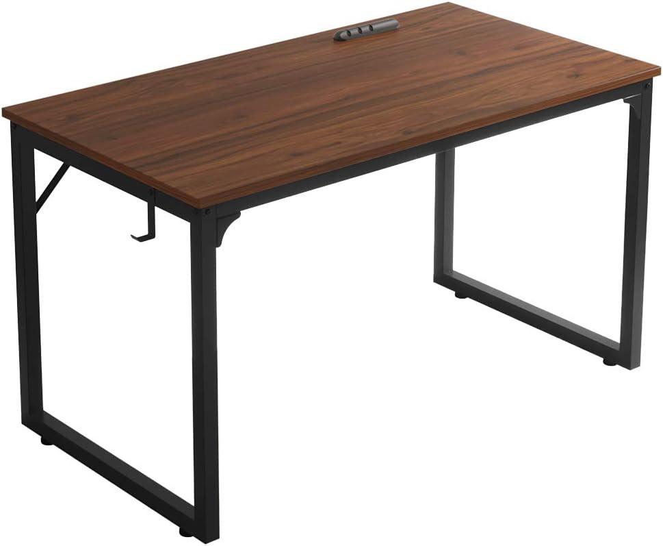 """Home Office Desk, Modern Industrial Simple Style Computer Desk, Workstation, Sturdy Writing Desk,Flrrtenv(31"""", Espresso)"""