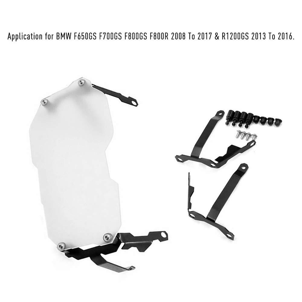 Carrfan Protector de los Faros de la Motocicleta Protector del Faro Protector de la pel/ícula Protector de la l/ámpara Delantera para BMW F650GS F700GS F800GS F800R 2008 a 2017 y R1200GS 2013 a 2016