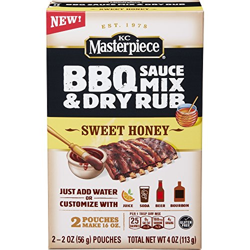 KC Masterpiece BBQ Sauce Mix & Dry Rub Sweet Honey 4 oz