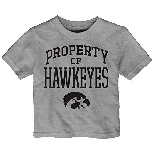 NCAA Iowa Hawkeyes Infant Team Property Short Sleeve Tee, 18 Months, Heather Grey