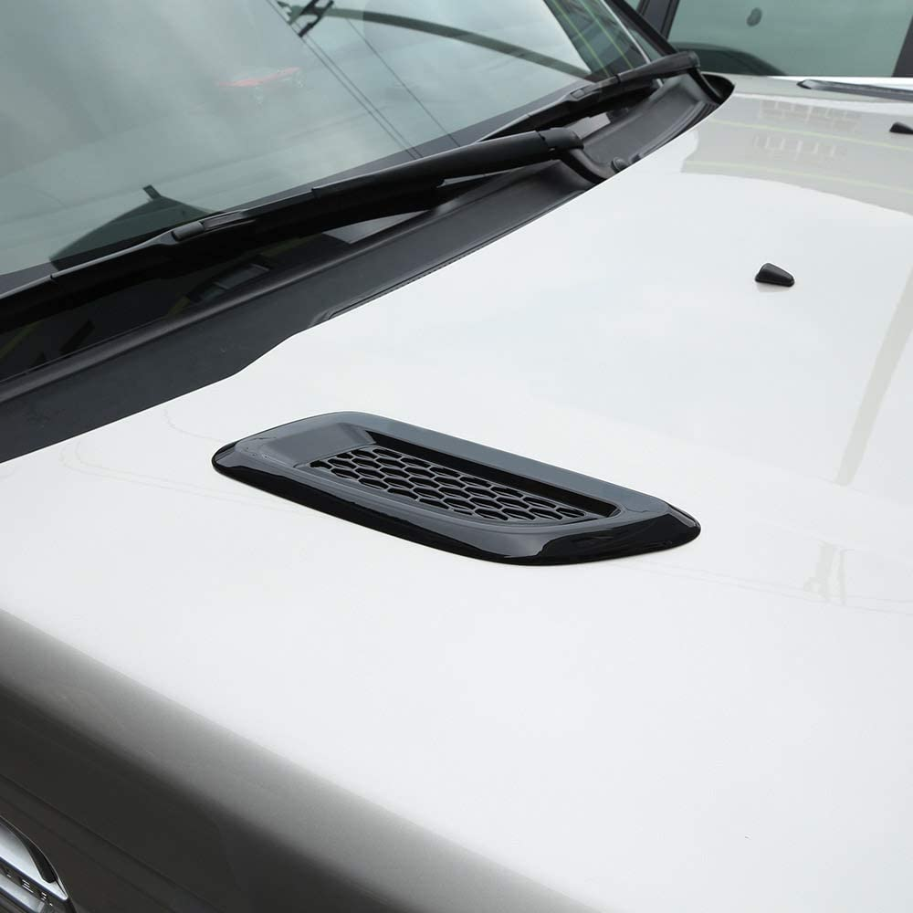 YIWANG ABS Exterior Hood Vent Slat air Wing Trim Cover for Land Rover Discovery Sport,for Discovery 4,for Freelander 2,for Range Rover Evoque,for Range Rover Sport Auto Accessories Gloss Black
