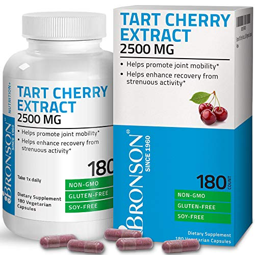 Tart Cherry Extract 2500 mg Vegetarian Capsules Premium Non-GMO Gluten Free Soy Free Formula Packed with Antioxidants and Flavonoids, 180 Count