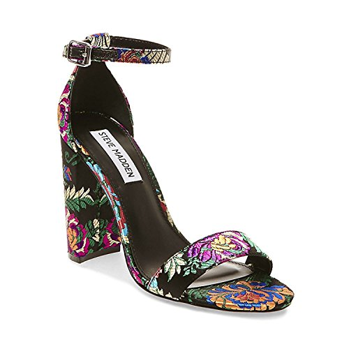 Steve Madden Womens Carrson Ankle Strap Dress Sandal Shoe, Multi, US 6