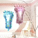 Baby Girl Boy Aluminum Foil Foot Balloon Birthday Party Home Decoration
