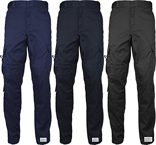 Uniform 9 Pocket Cargo Pants, Poly Cotton Work Pants for EMT EMS Police Security with Official Pin - stylishcombatboots.com