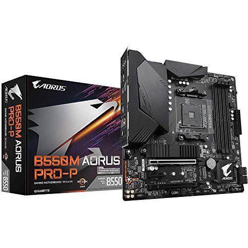 GIGABYTE B550M AORUS PRO-P (AMD Ryzen 3000/B550/Micro ATX/M.2 Thermal Guard/HDMI/DVI/USB 3.2 Gen 2/DDR4/Motherboard)