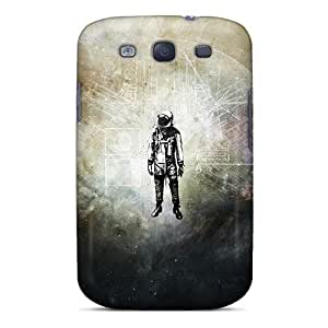 Hard Plastic Galaxy S3 Case Back Cover,hot Lonely Astronaut Case At Perfect Diy