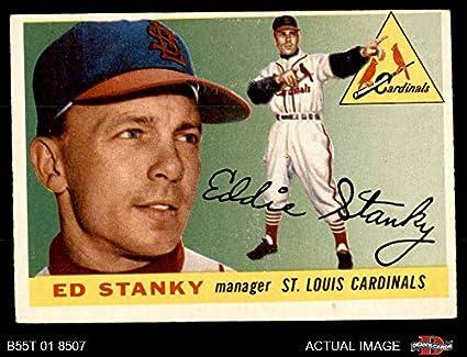 Amazoncom 1955 Topps 191 Eddie Stanky St Louis
