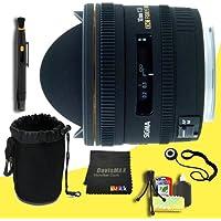 Sigma 10mm f/2.8 EX DC HSM Fisheye Lens for Pentax Digital SLR Cameras + Lens Cap Keeper + Deluxe Lens Pouch + Lens Pen Cleaner + DavisMAX MicroFiber Cloth + Deluxe Starter Kit DavisMAX Bundle