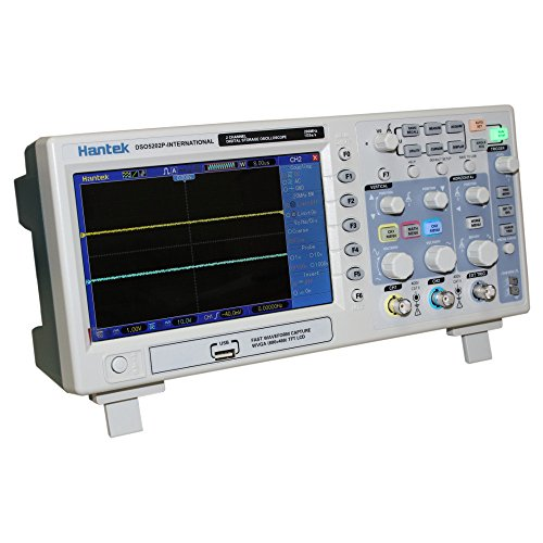 Hantek DSO5202P 200 MHz 2CH Digital Oscilloscope, 1GSa/s Real Time Sample