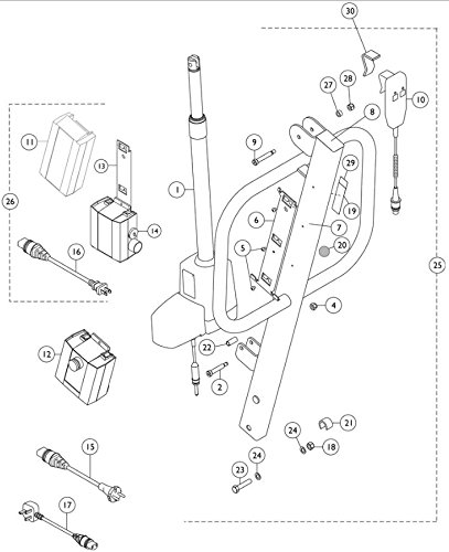 Hand Pendant for RPA/RPA 450-1/RPS350-1 (Invacare 450 Lift Control)
