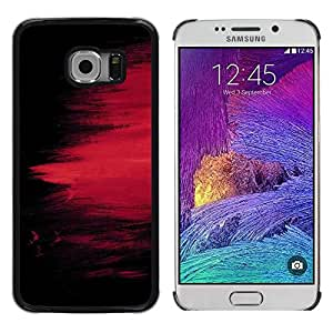 LECELL -- Funda protectora / Cubierta / Piel For Samsung Galaxy S6 EDGE SM-G925 -- chernyy fon kraska polosy pyatno --