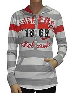 Womens Nebraska Cornhuskers Lightweight Hoodie (Vintage Look) Xl Multicolor