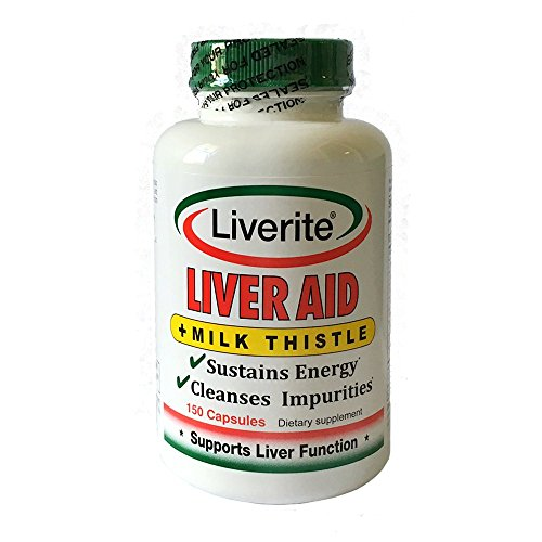 Liverite Liver Aid With Milk Thistle 150 Capsules, Liver Support, Liver Cleanse, Liver Care, Improves Energy ()