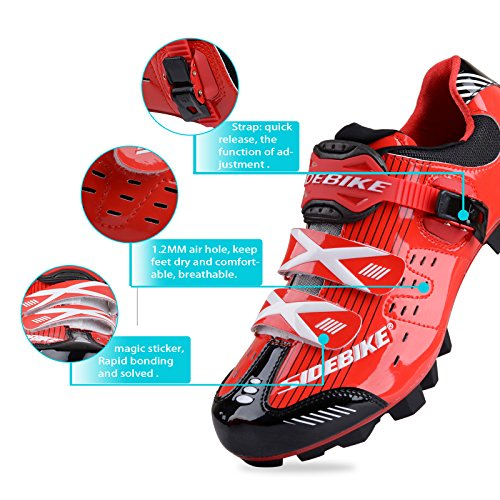authentic cheap price SIDEBIKE Men Women Adult Mountain Bike MTB Cycling Shoes Red/Black latest for sale 65eTiBXBR6