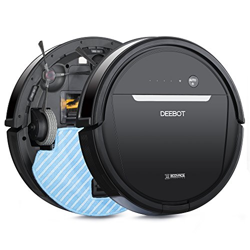ECOVACS DEEBOT OZMO 601 Robotic Mop & Vacuum Cleaner with Innovative Mopping System, Wi-Fi Connected App, for Hardwood & Tiles Floors