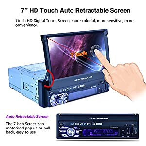 Reakosound 7 inch MP5 player 7158B with retractabling automaticly function