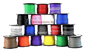 Amazon.com: 16 Gauge Primary Remote Wire Solid & Stripe Single ...
