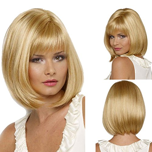 Short Blonde Wig With Bangs (Rise World 13