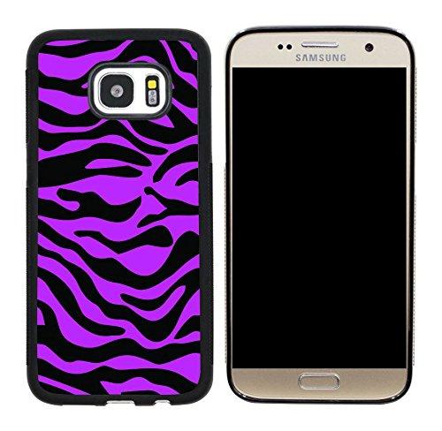 - Rikki Knight Zebra Design on Tropical Pink Case Cover for Samsung Galaxy S7 - Black