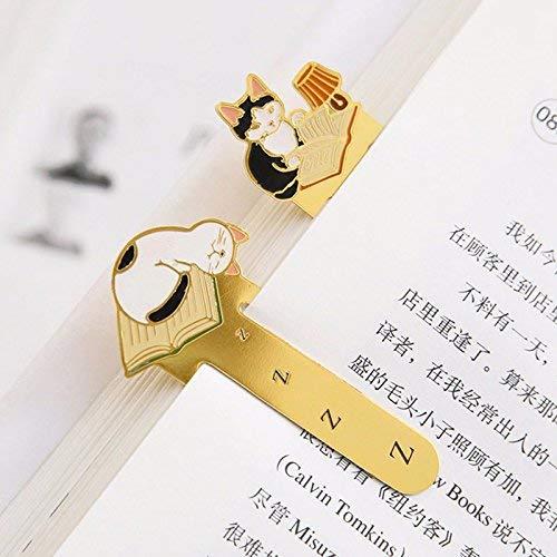 Vektenxi Premium Qualit/ät 4 teile//los Metall lesezeichen f/ür b/ücher Nette katze lesezeichen clip Schreibwaren B/üro schulbedarf marcador livro F130