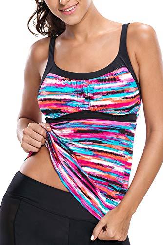 HOTAPEI Plus Size Tankini Tops for Women Swimwear Modest Sum