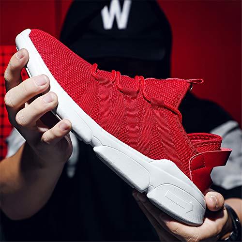 Scarpe di Uomo indossabili LIEBE721 Leggere Sportive Antiscivolo Rosso codice Grandi Scarpe alla Traspiranti Casual da Moda qwqOx71Fg