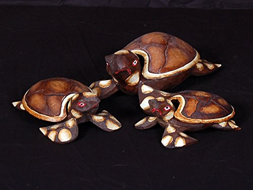 Tikimaster Set of 3 Turtles Ashtray/Keepsake Box | -