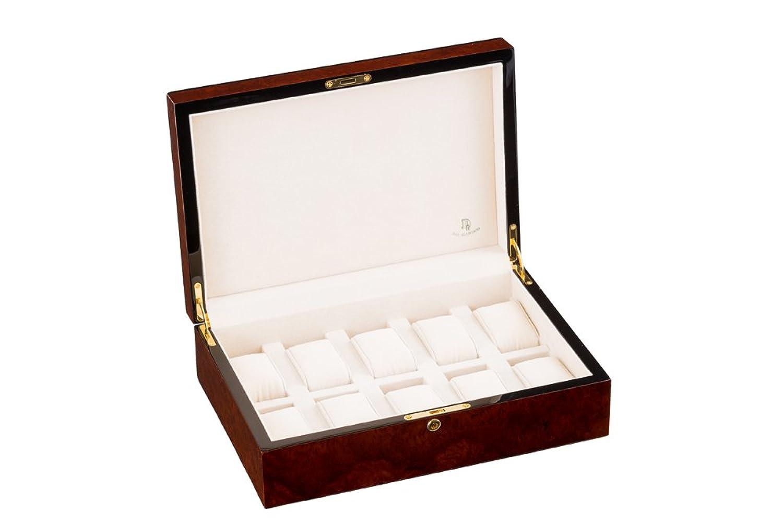 高品位【木製時計コレクションケース】10本用 バール B00UEEJN0A