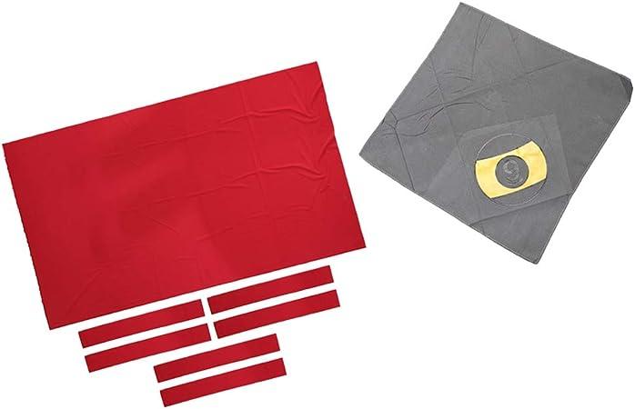 Toygogo Fieltro de Mesa de Billar Almohadilla de Tela Mezcla Lana Suave Elástico Pieza de Recambio para Tabla de Billar, Color Rojo: Amazon.es: Deportes y aire libre