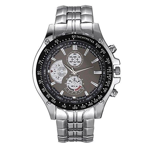 Etuoji Mens Full Steel Quartz Analog Wrist Watch Men Luxury Brand Waterproof Date Business Watch