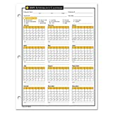 2019 Attendance Calendar - 50 Sheets/Package - On High Quality Cardstock Paper