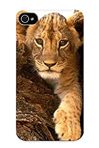 Top Quality Rugged Nature Animals Wildlife Lions Furry Baby Animals Case Cover Deisgn For Iphone 4/4s For Lovers
