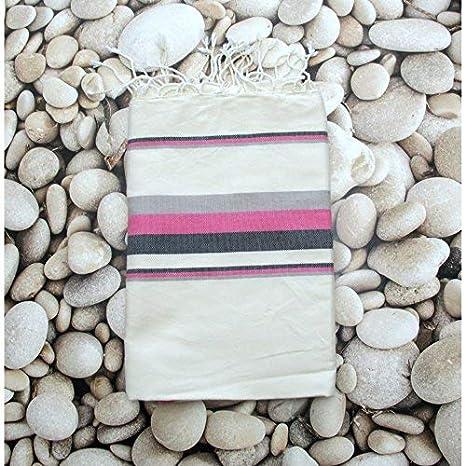 Cabo, 100% algodón Fouta toalla de baño, 100 cm x 200 cm, ideal para la ...