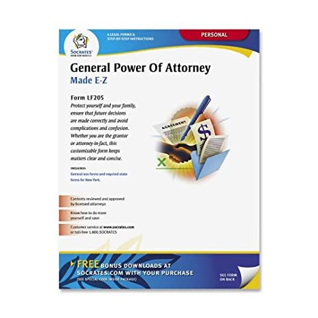 Amazoncom Socrates Media LF General PowerAttorney Form - Socrates legal forms